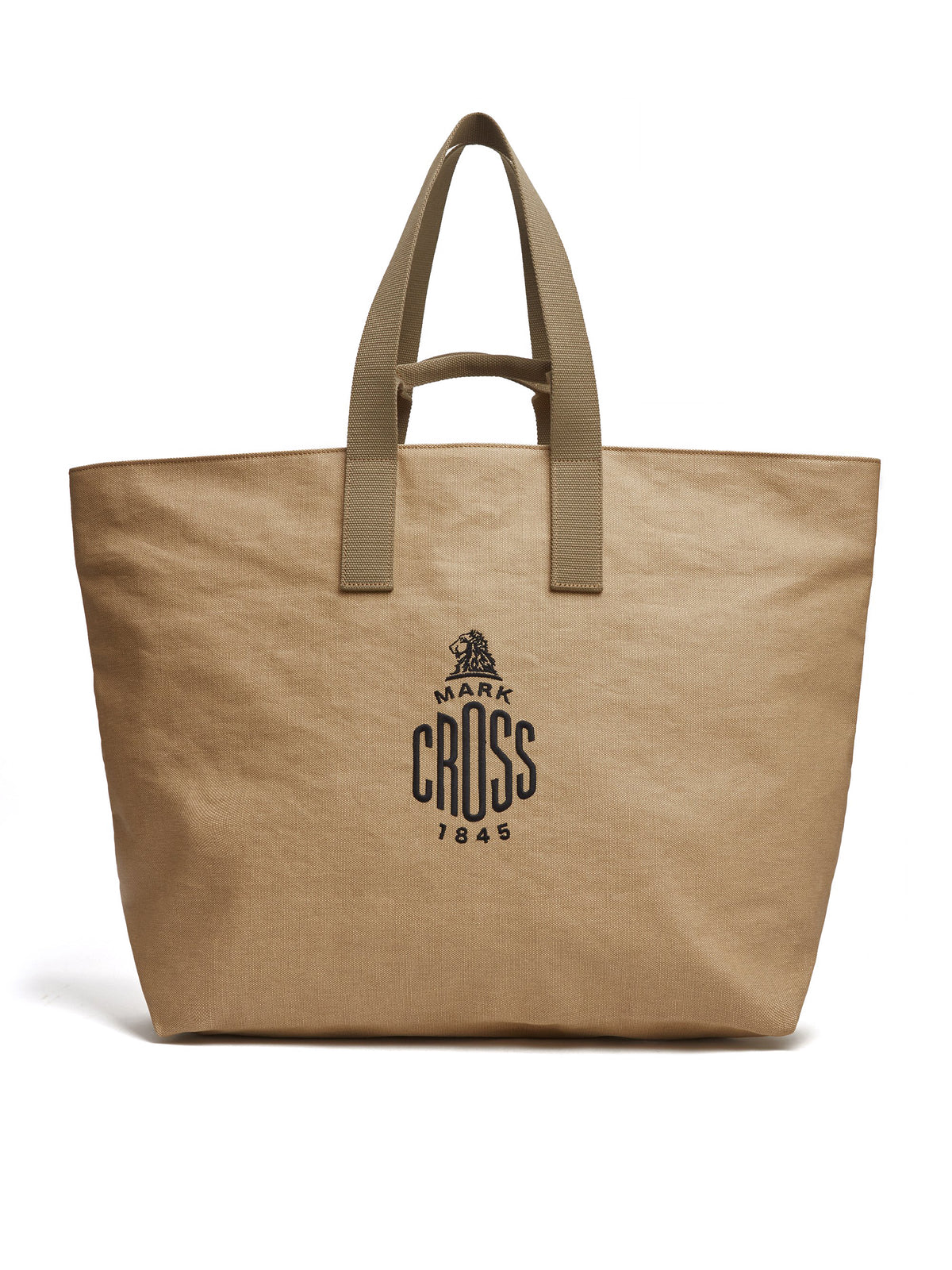 Mark Cross Weatherbird Canvas Large Tote Bag Canvas Beige Front