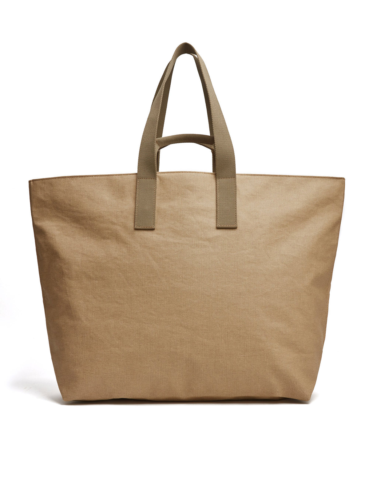 Mark Cross Weatherbird Canvas Large Tote Bag Canvas Beige Back