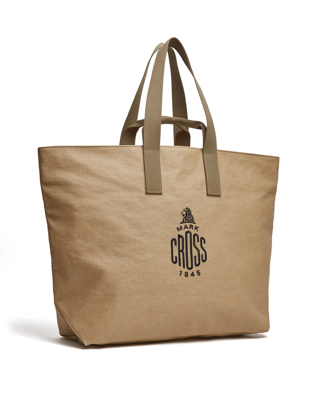 Mark Cross Weatherbird Canvas Large Tote Bag Canvas Beige Side