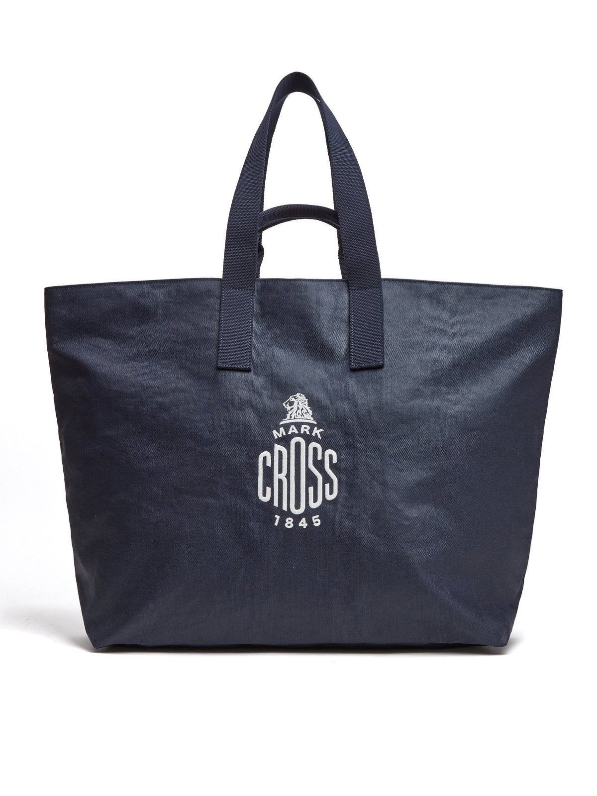 Mark Cross Weatherbird Canvas Large Tote Bag Canvas Navy Front