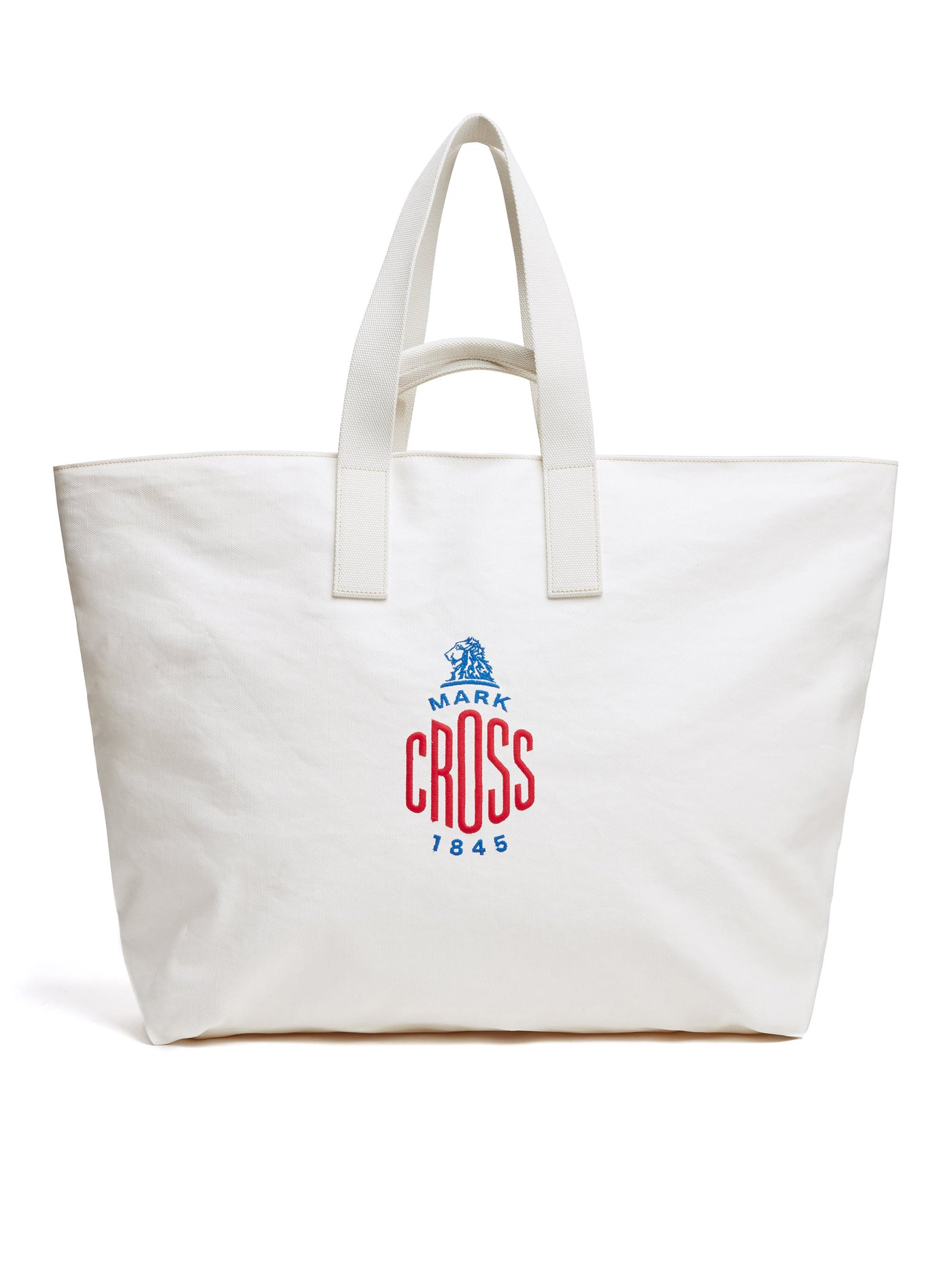 Mark Cross Weatherbird Canvas Large Tote Bag Canvas White Front