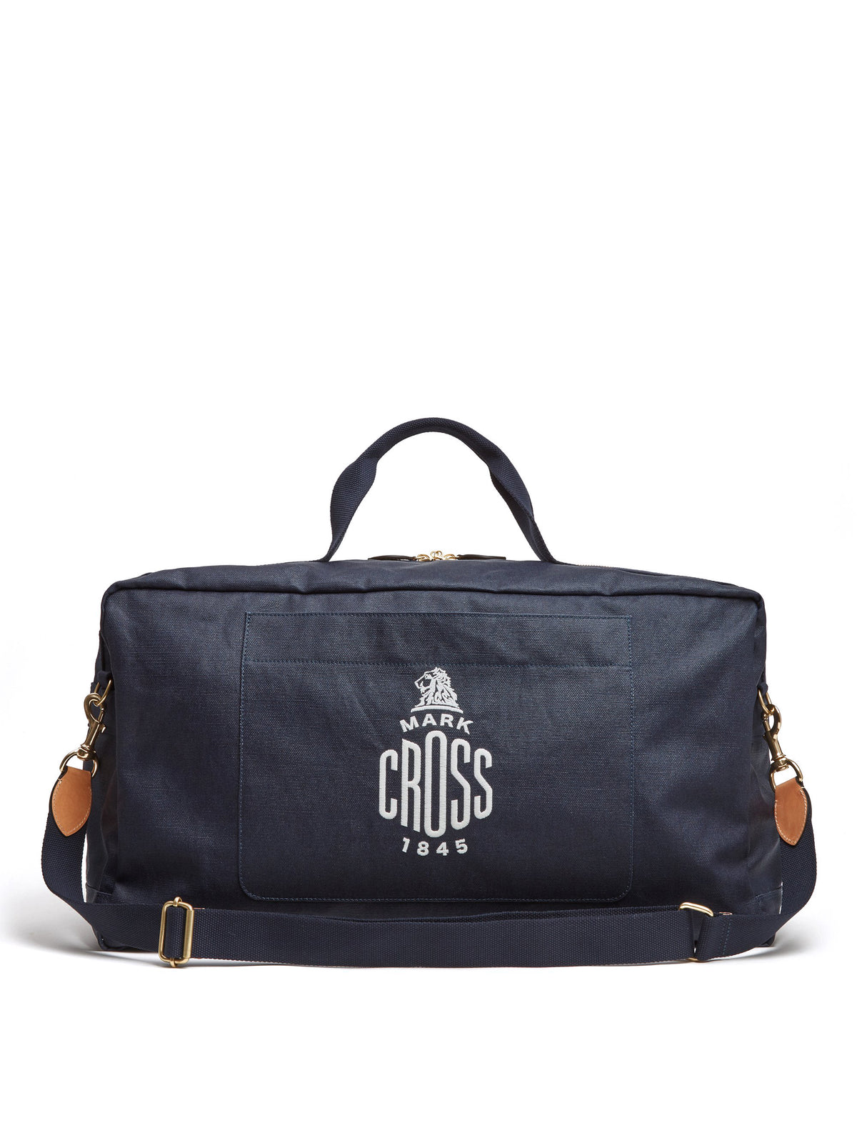 Mark Cross Weatherbird Canvas Duffle Bag Canvas Navy Front