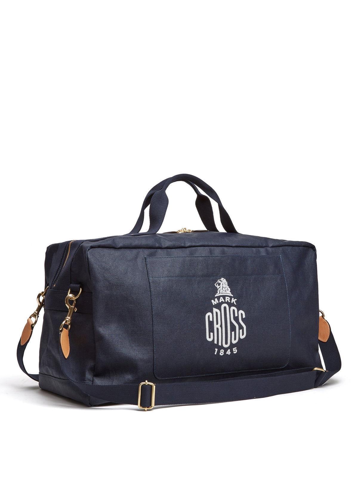 Mark Cross Weatherbird Canvas Duffle Bag Canvas Navy Side