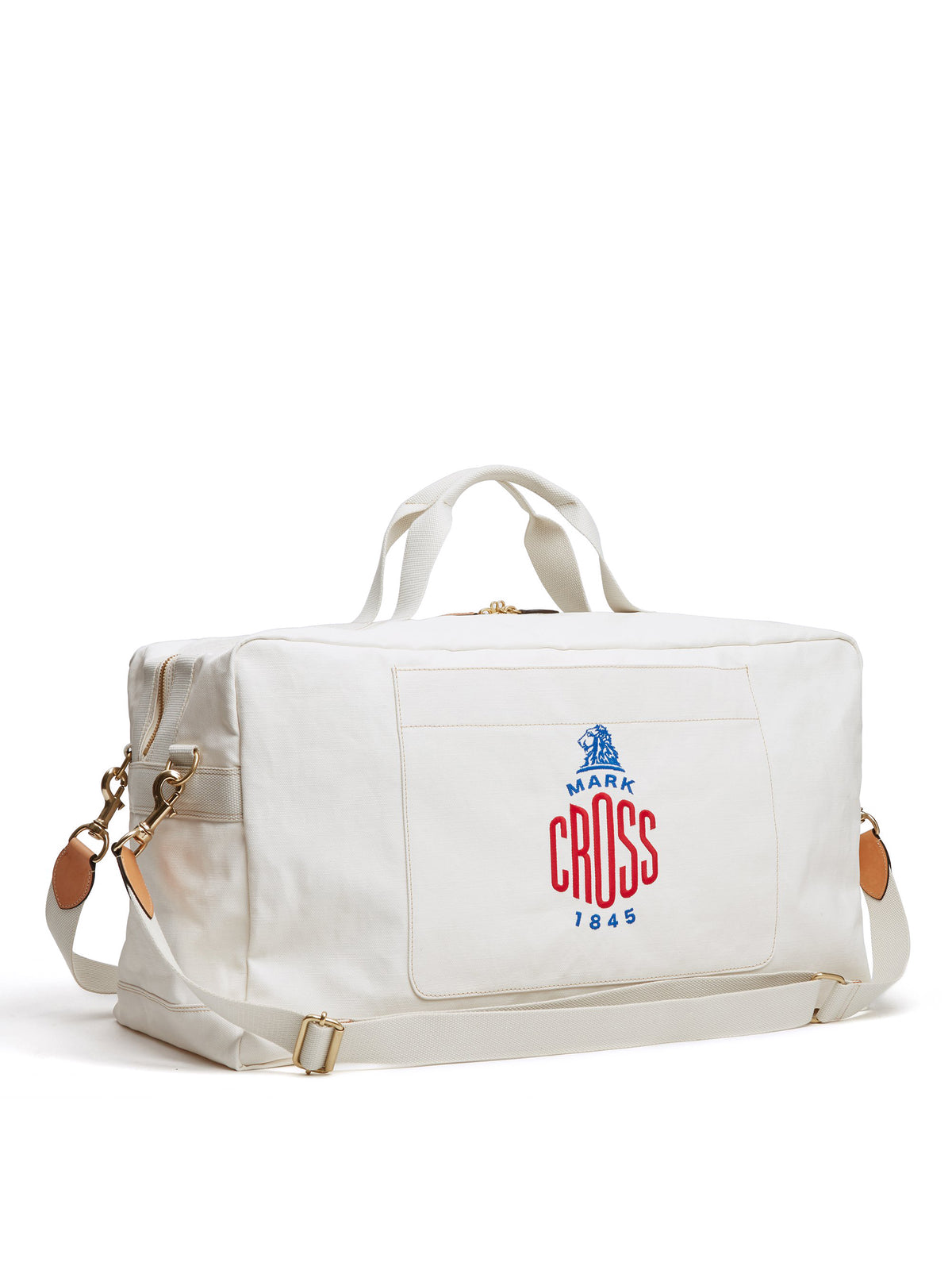 Mark Cross Weatherbird Canvas Duffle Bag Canvas White Side