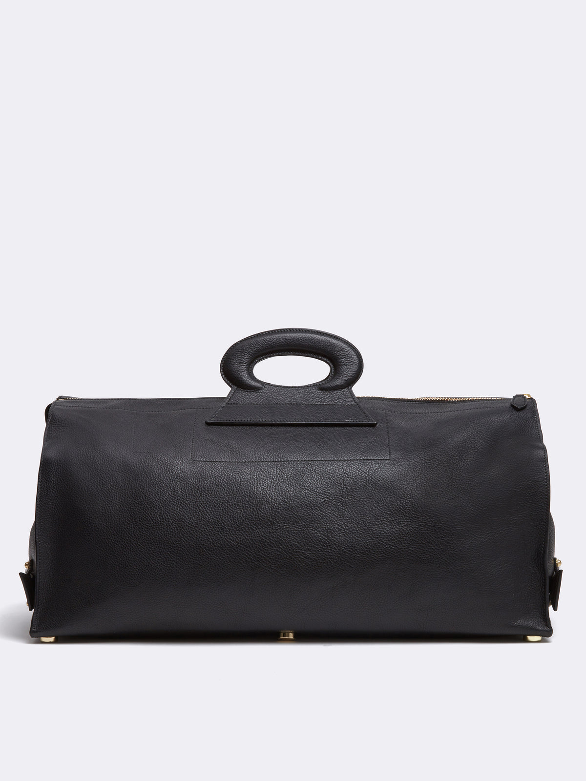 Mark Cross Vintage Leather Duffle Bag Calfskin Black Back