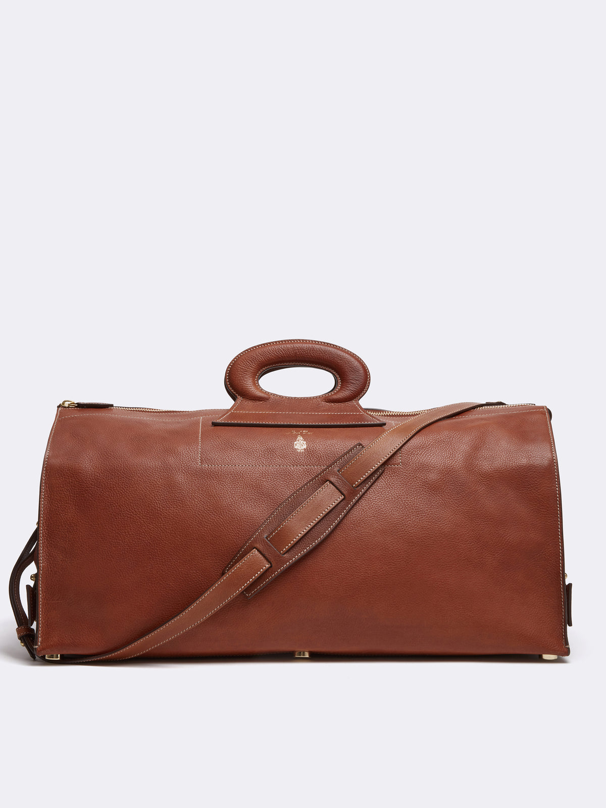 Vintage Leather Duffle Bag
