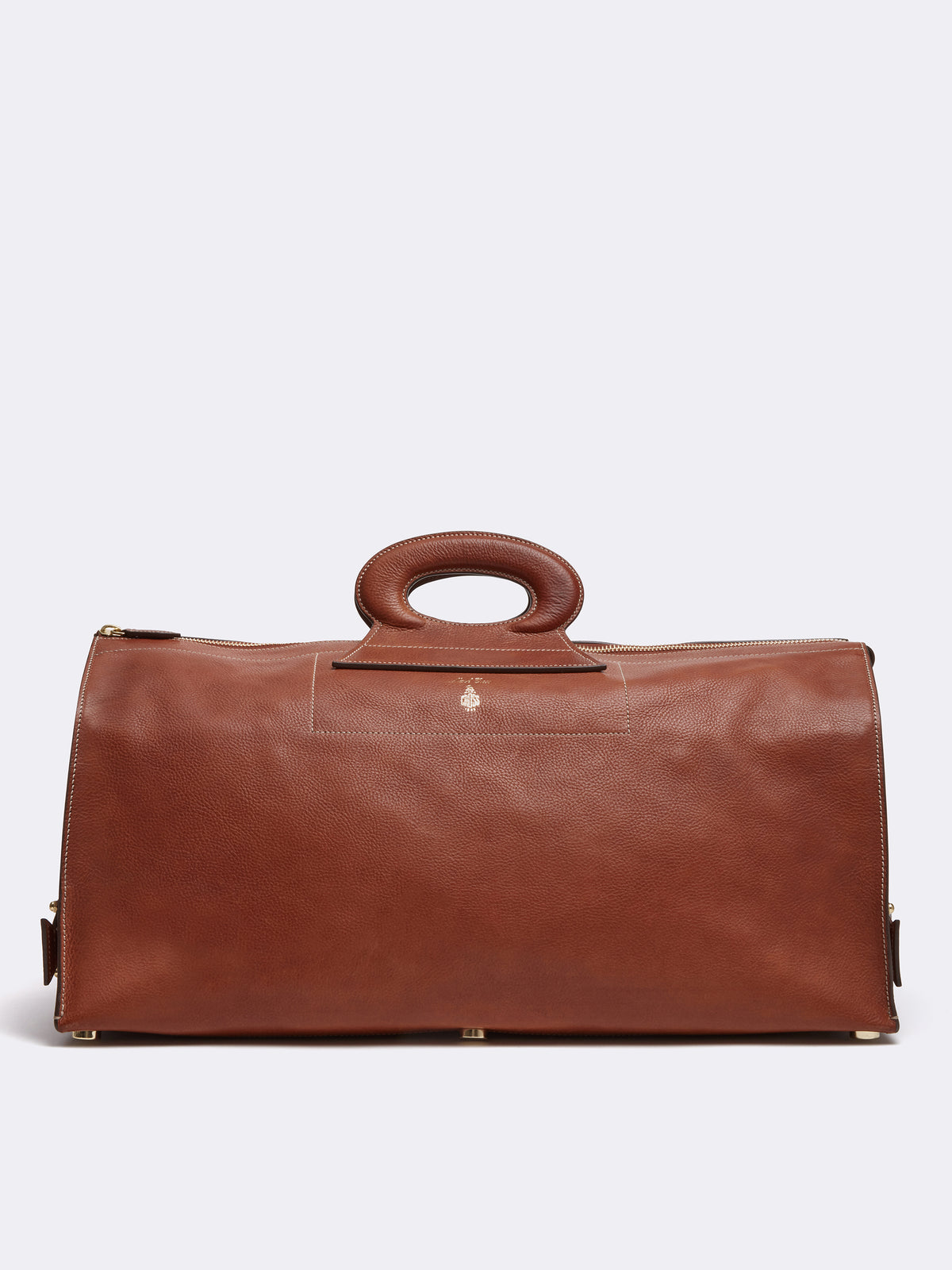 Mark Cross Vintage Leather Duffle Bag Calf Luggage Front