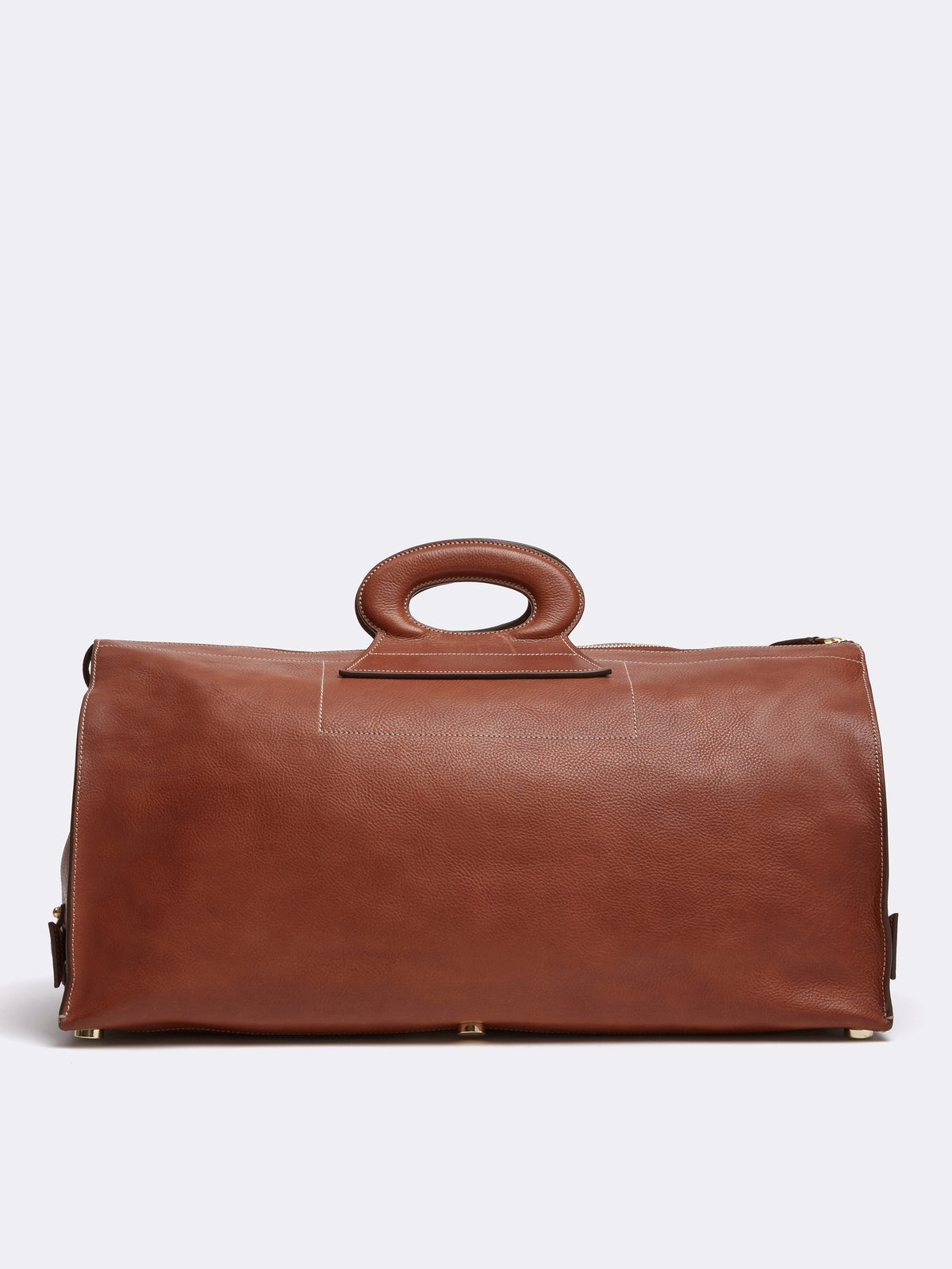 Mark Cross Vintage Leather Duffle Bag Calf Luggage Back