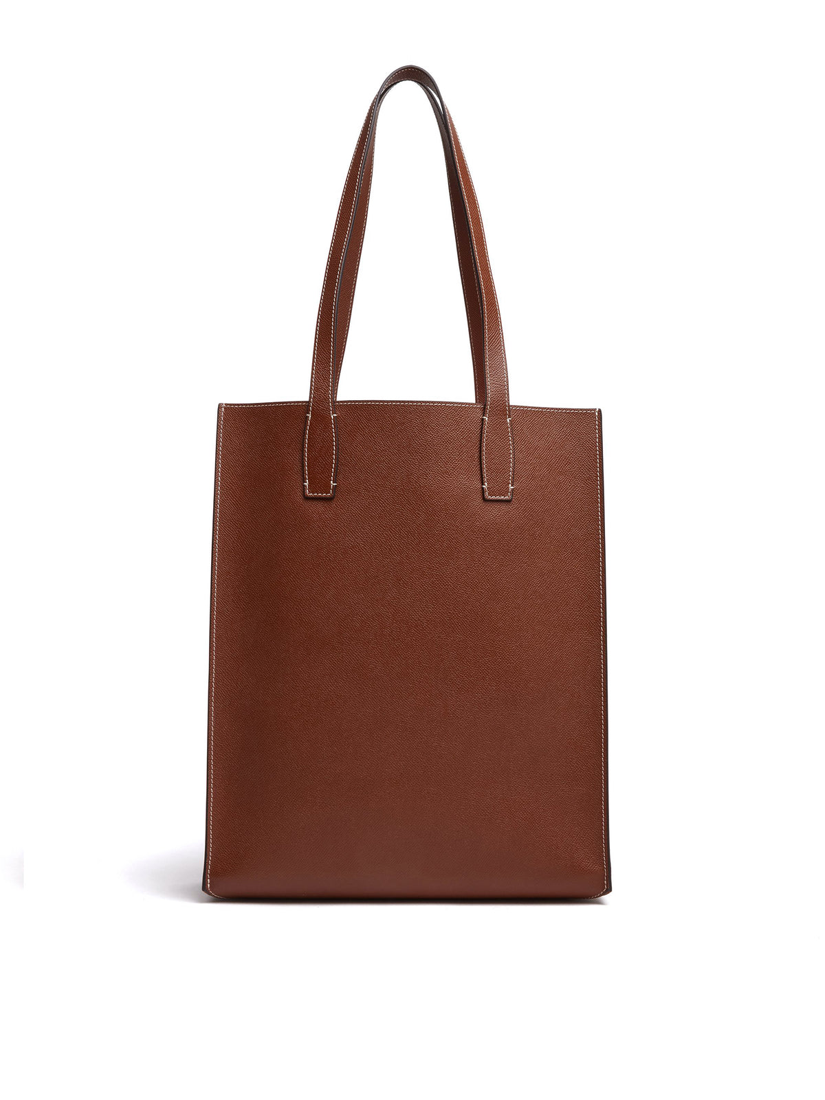 Mark Cross Fitzgerald North South Leather Tote Saffiano Acorn Back