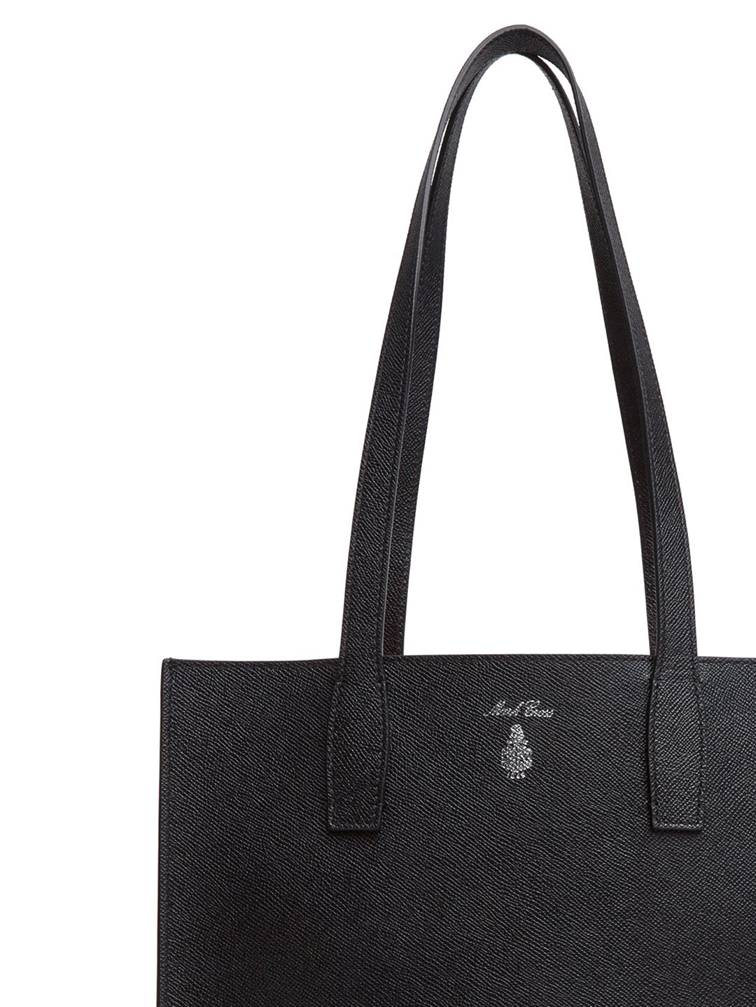 Mark Cross Fitzgerald North South Leather Tote Saffiano Black Detail