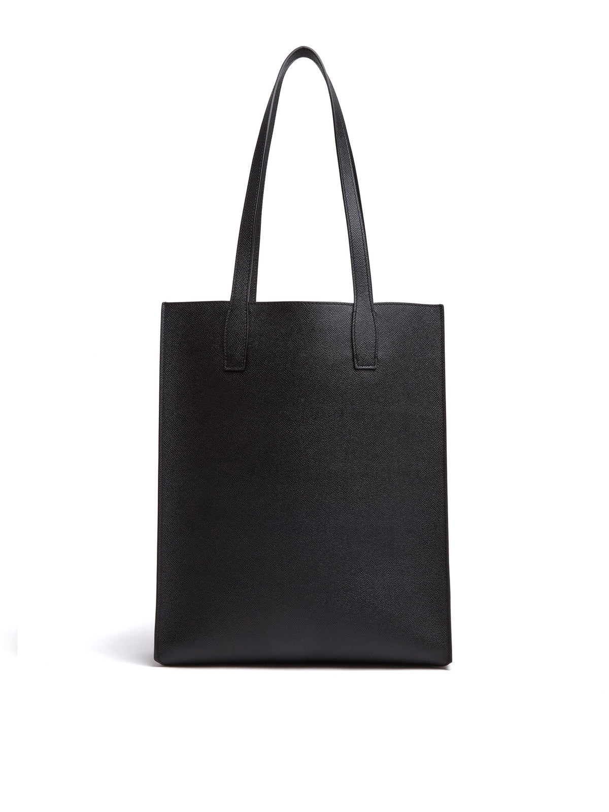 Mark Cross Fitzgerald North South Leather Tote Saffiano Black Front