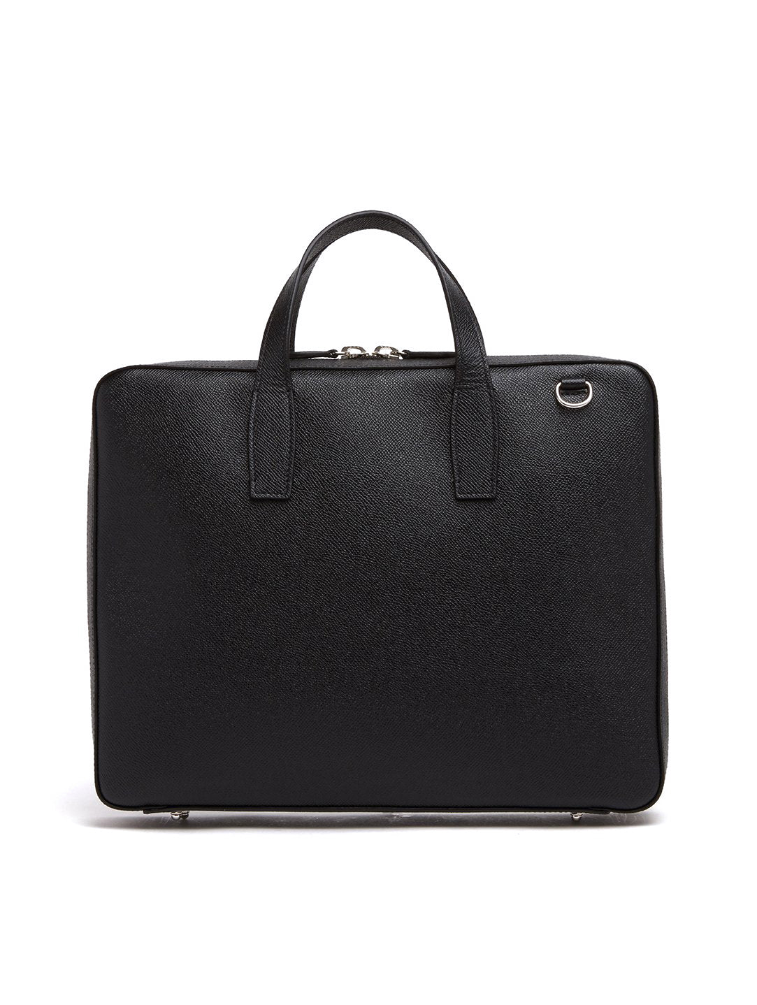 Mark Cross Parker Leather Briefcase Saffiano Black Back