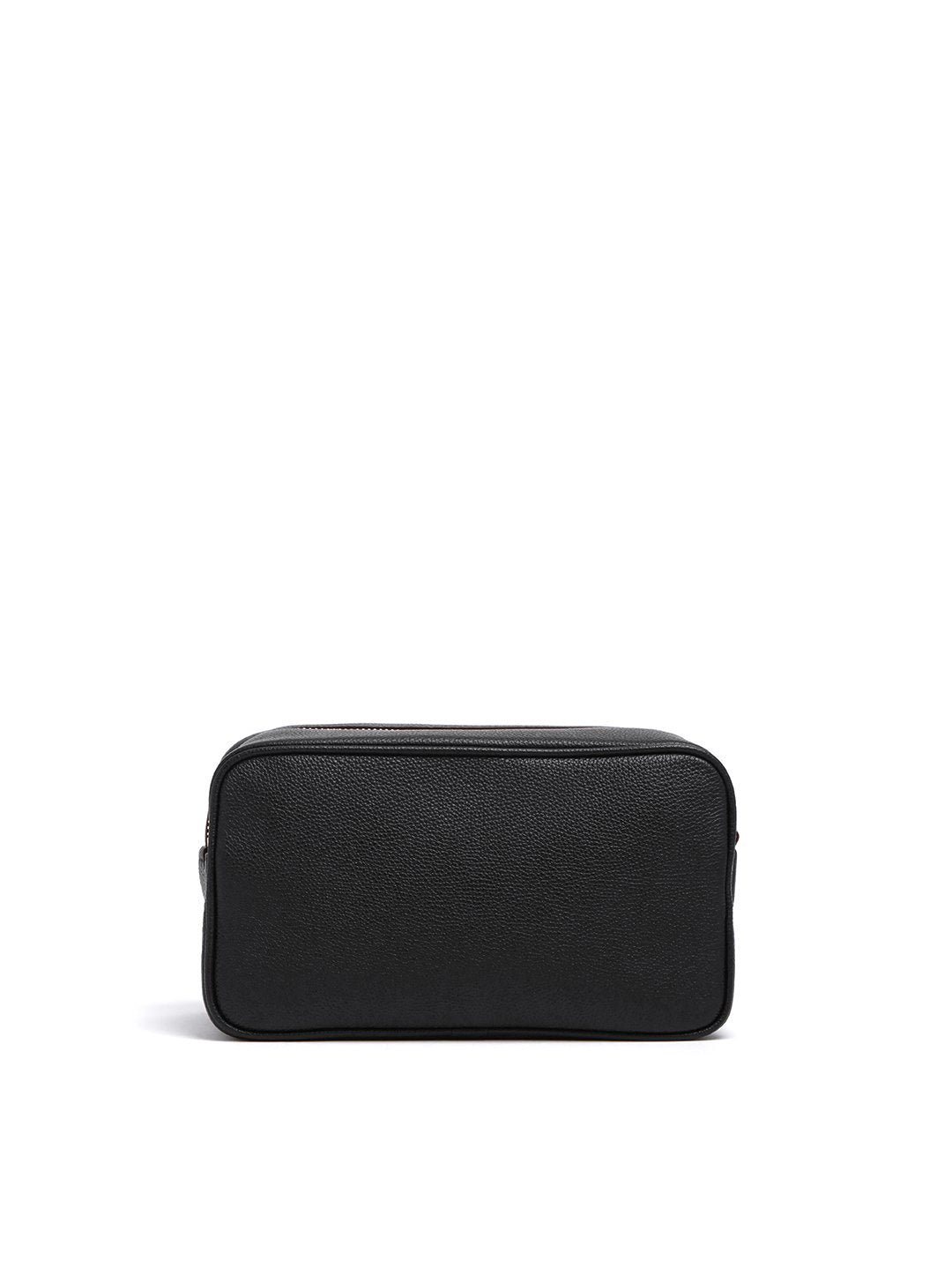 Mark Cross Leather Wash Bag Tumbled Grain Black Back