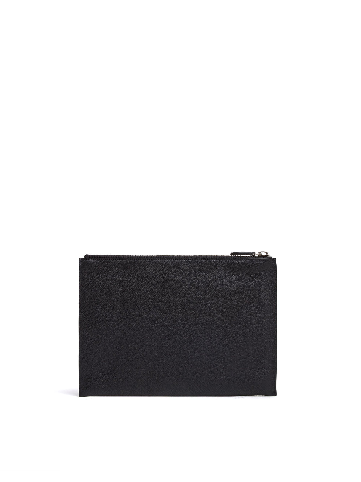 Mark Cross Leather Zip Pouch Tumbled Grain Black Back