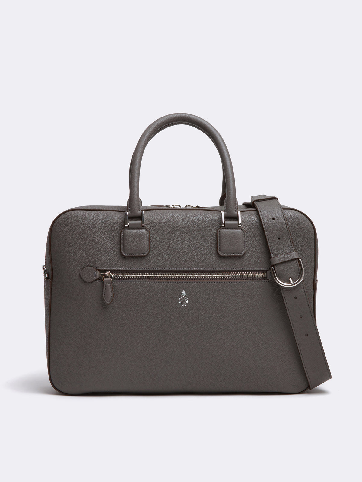 Double Handle Leather Briefcase