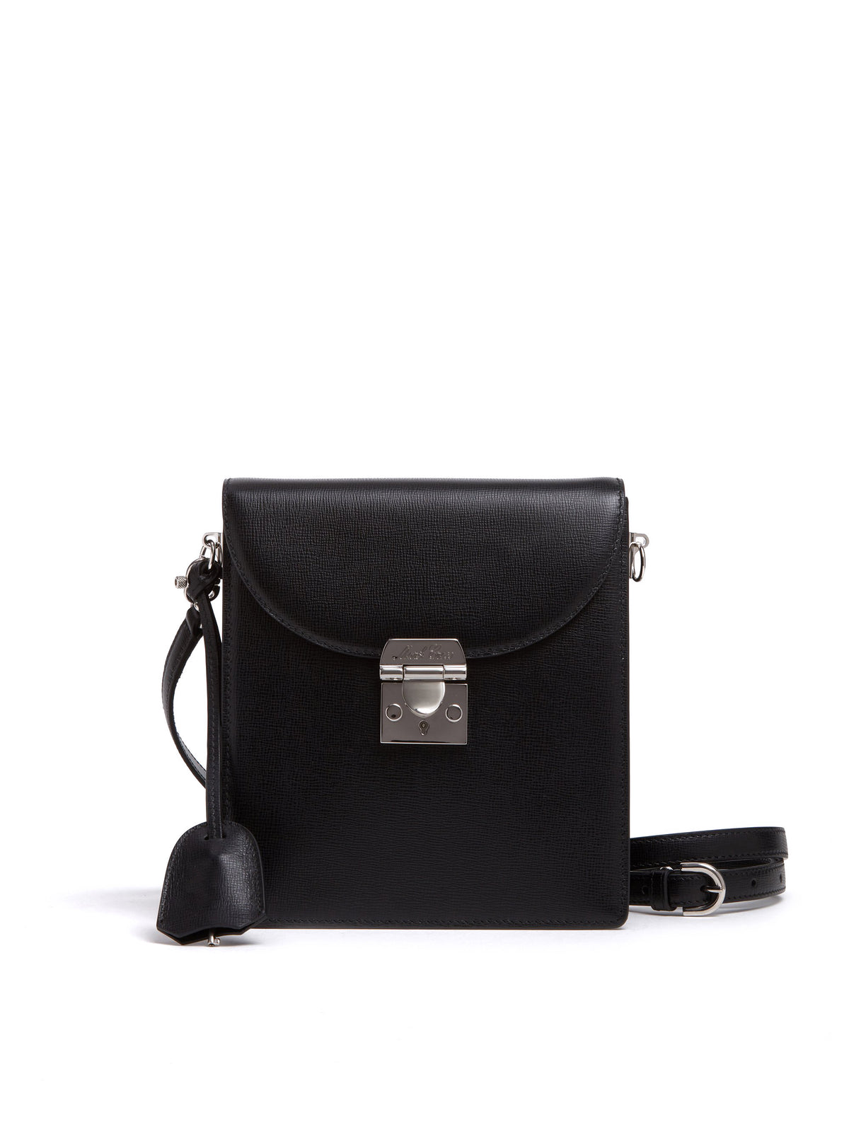 Mark Cross Patrick Leather Crossbody Bag Mini Franzi Black Front