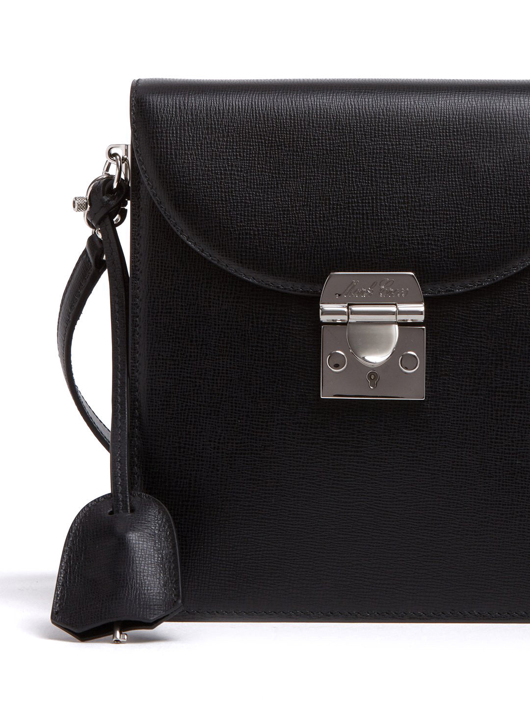 Mark Cross Patrick Leather Crossbody Bag Mini Franzi Black Detail