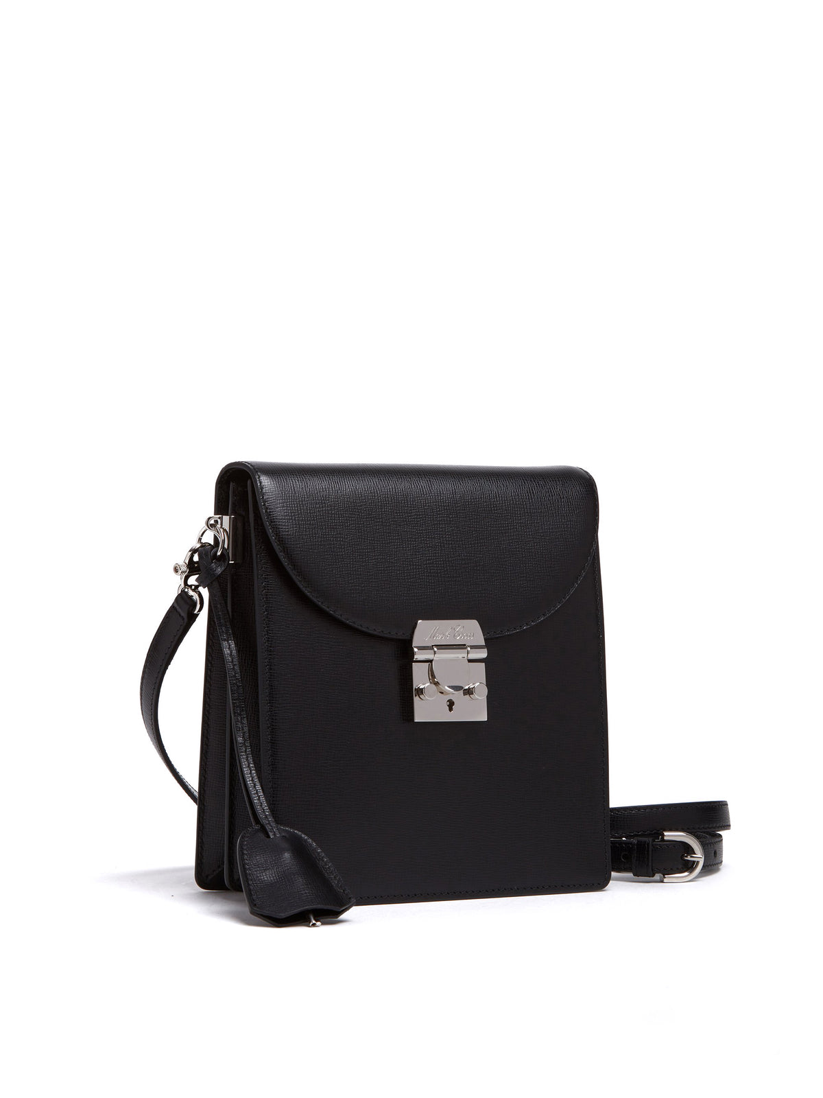 Mark Cross Patrick Leather Crossbody Bag Mini Franzi Black Side