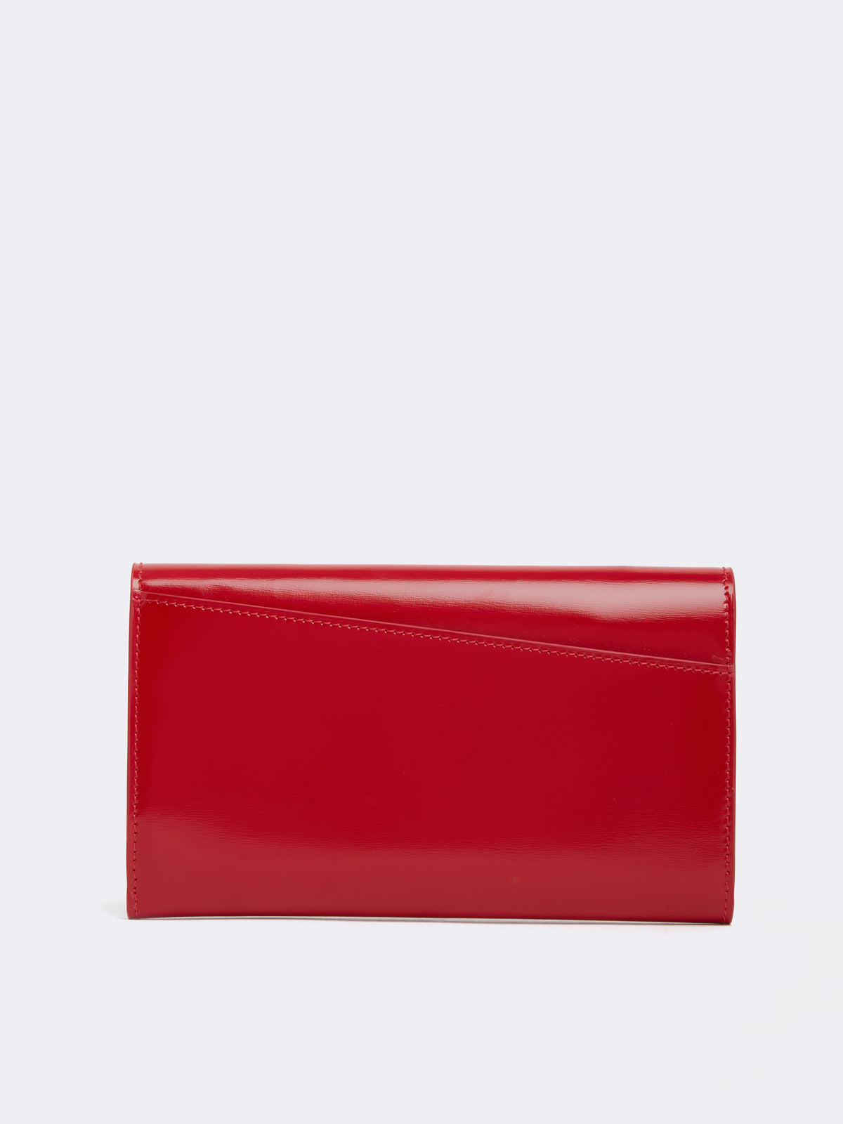 Mark Cross Hadley Leather Flap Wallet Brush Off C Mc Red Back