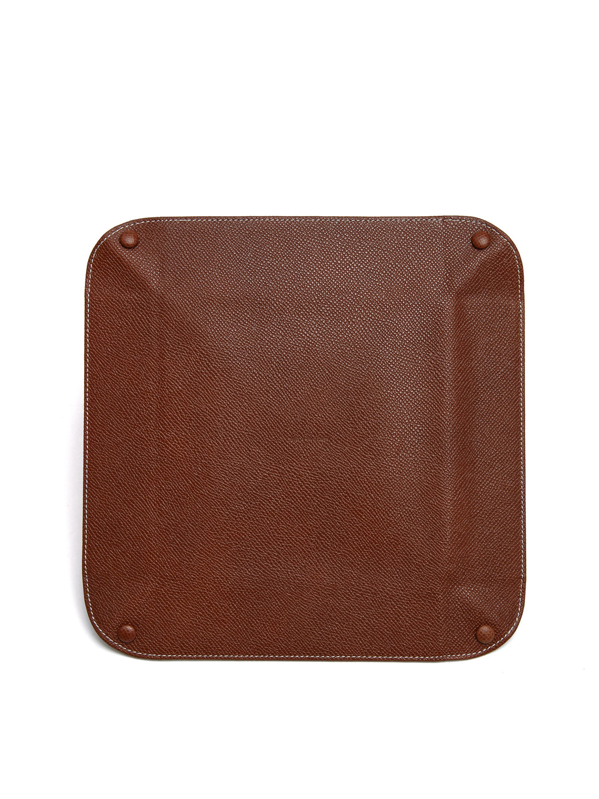 Mark Cross Large Leather Valet Tray Saffiano Acorn Back