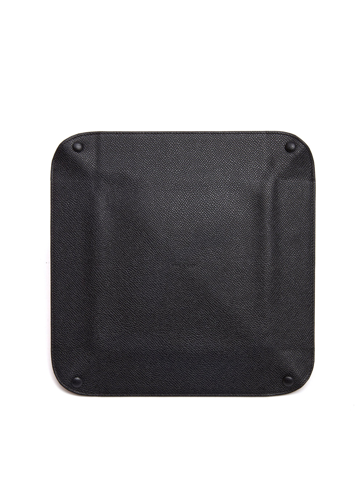 Mark Cross Large Leather Valet Tray Saffiano Black Back