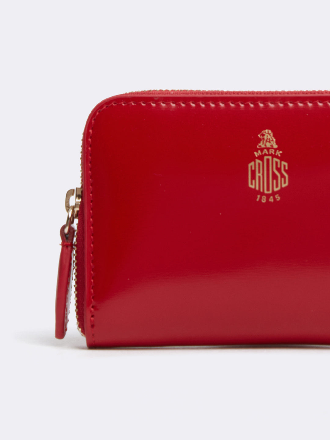 Mark Cross Zip Coin Pouch for Grace Belt Bag Brush Off Mc Red Detail