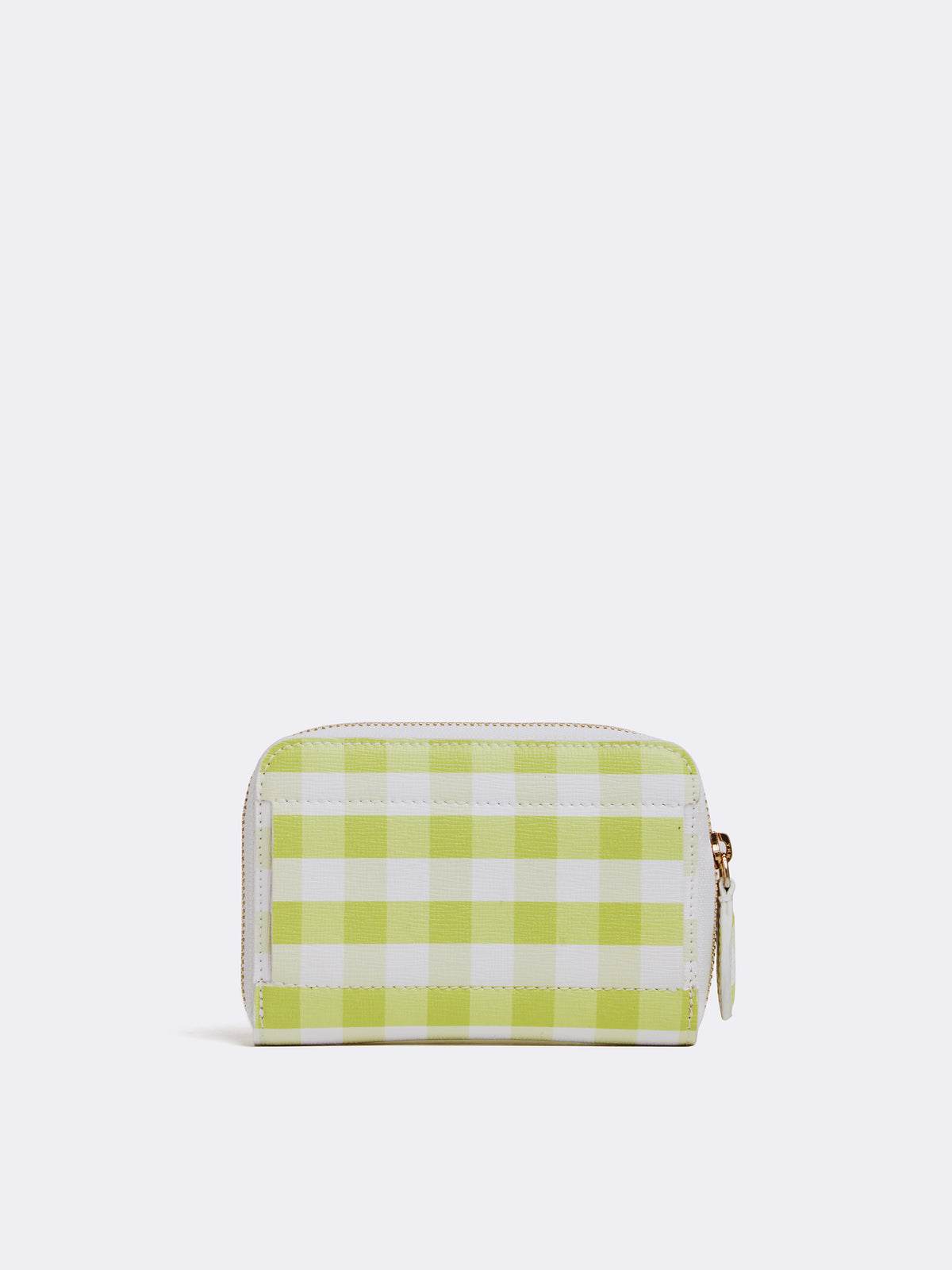 Mark Cross Zip Coin Pouch for Grace Belt Bag Mini Franzi Gingham Citron Back