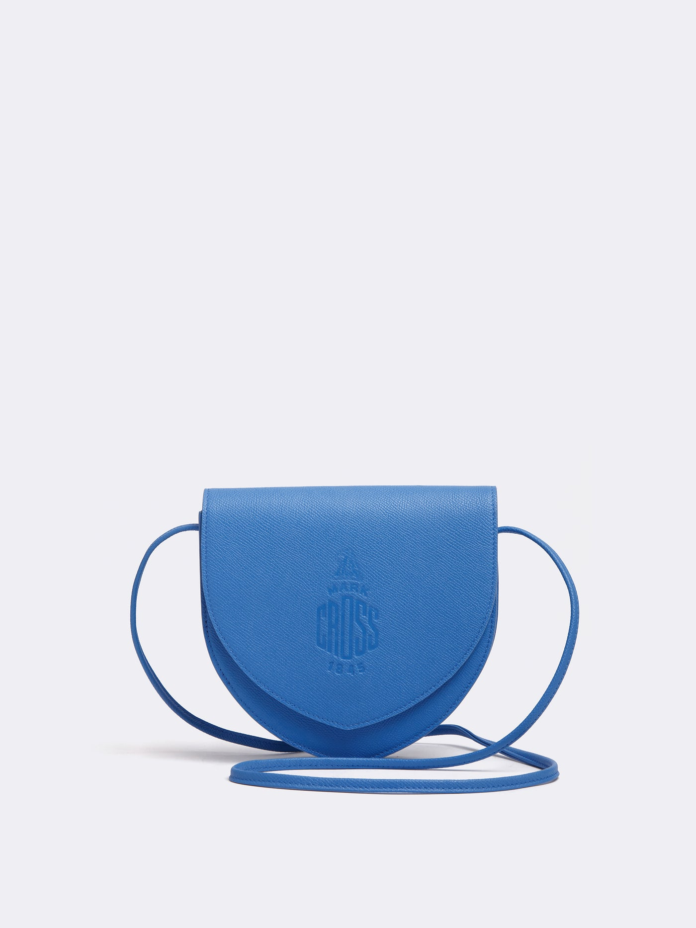 Mark Cross Dunes Leather Crossbody Bag Regatta Blue Front