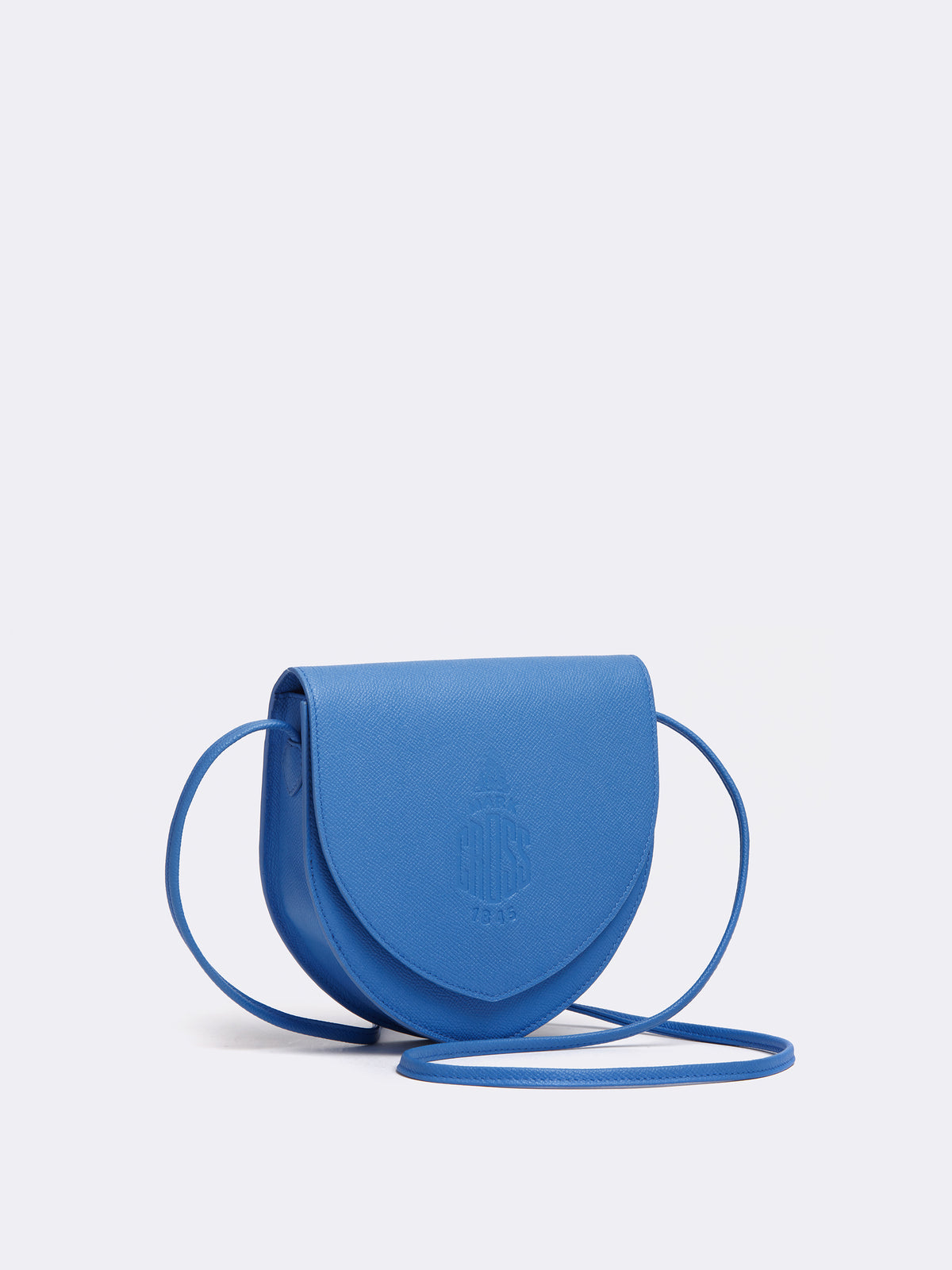 Mark Cross Dunes Leather Crossbody Bag Regatta Blue Side