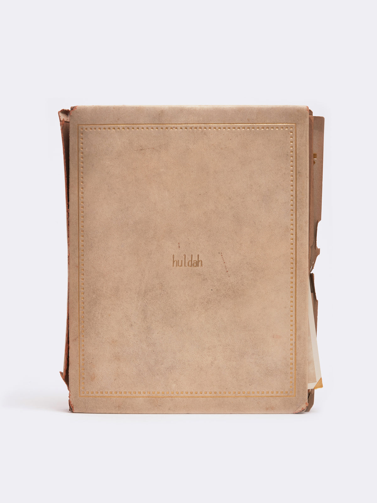 Mark Cross Archive Leather Bound Book Ivory Front
