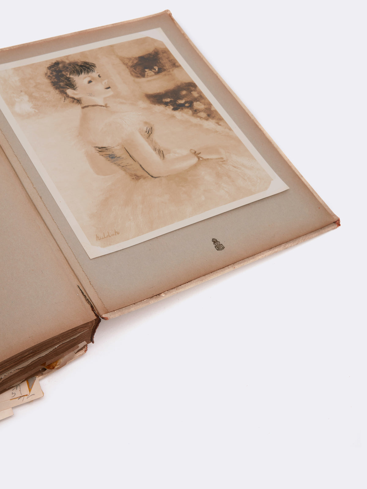 Mark Cross Archive Leather Bound Book Ivory Detail