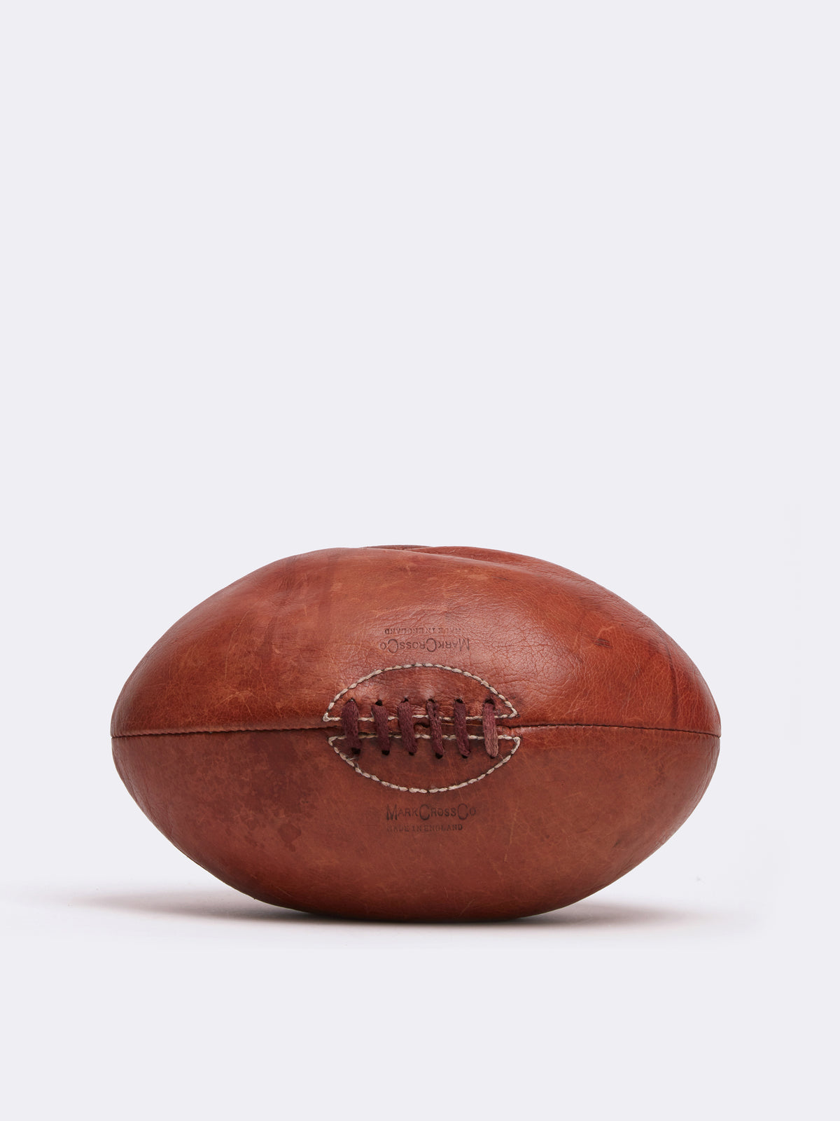 Mark Cross Archive Leather Rugby Ball Cognac Front
