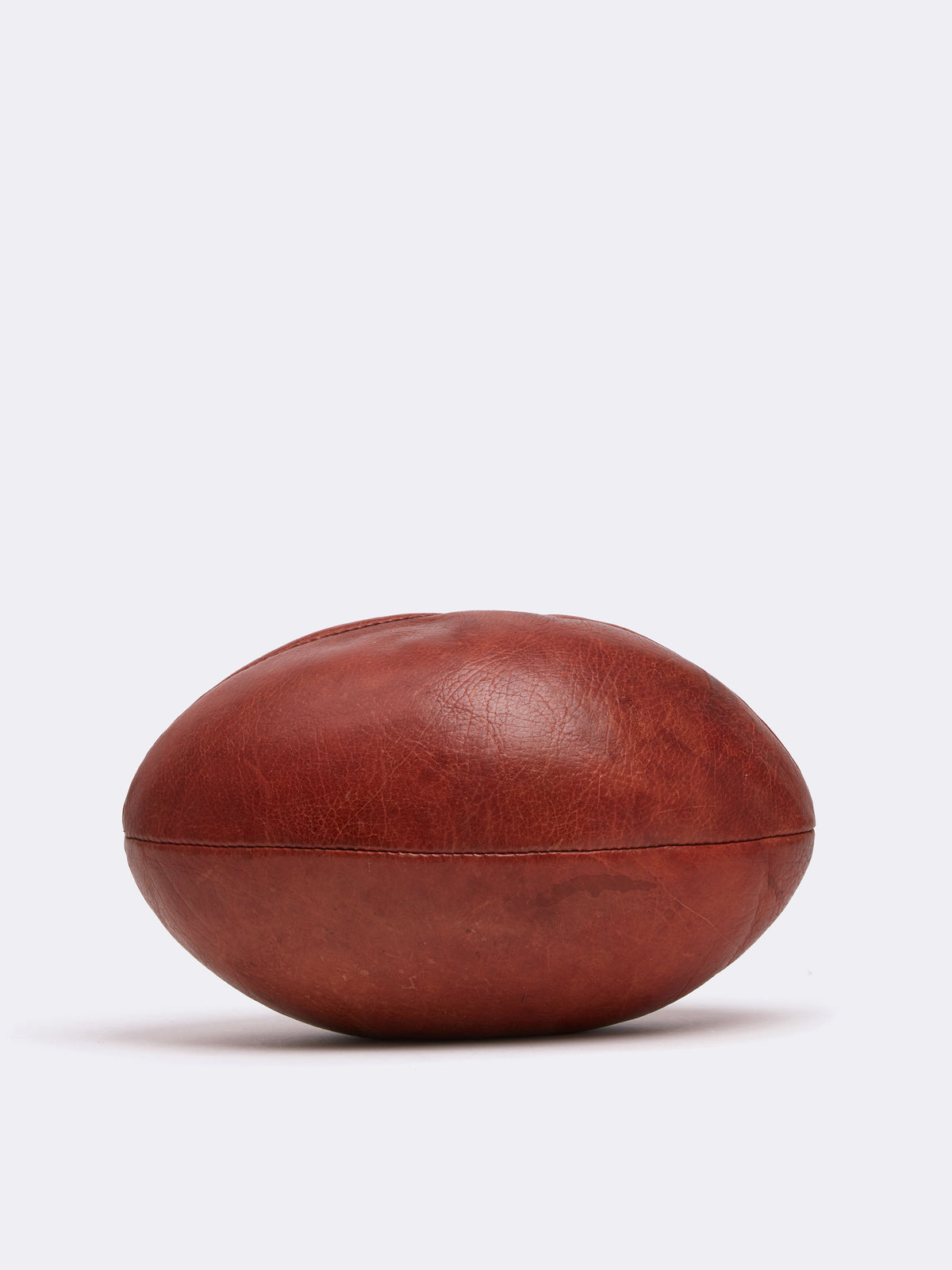 Mark Cross Archive Leather Rugby Ball Cognac Back