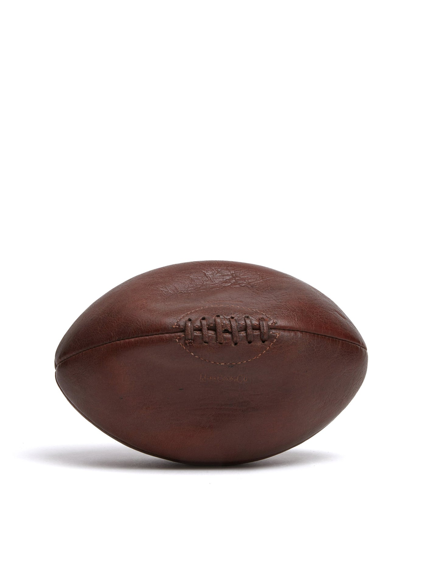 Mark Cross Vintage Leather Rugby Ball Chocolate Front