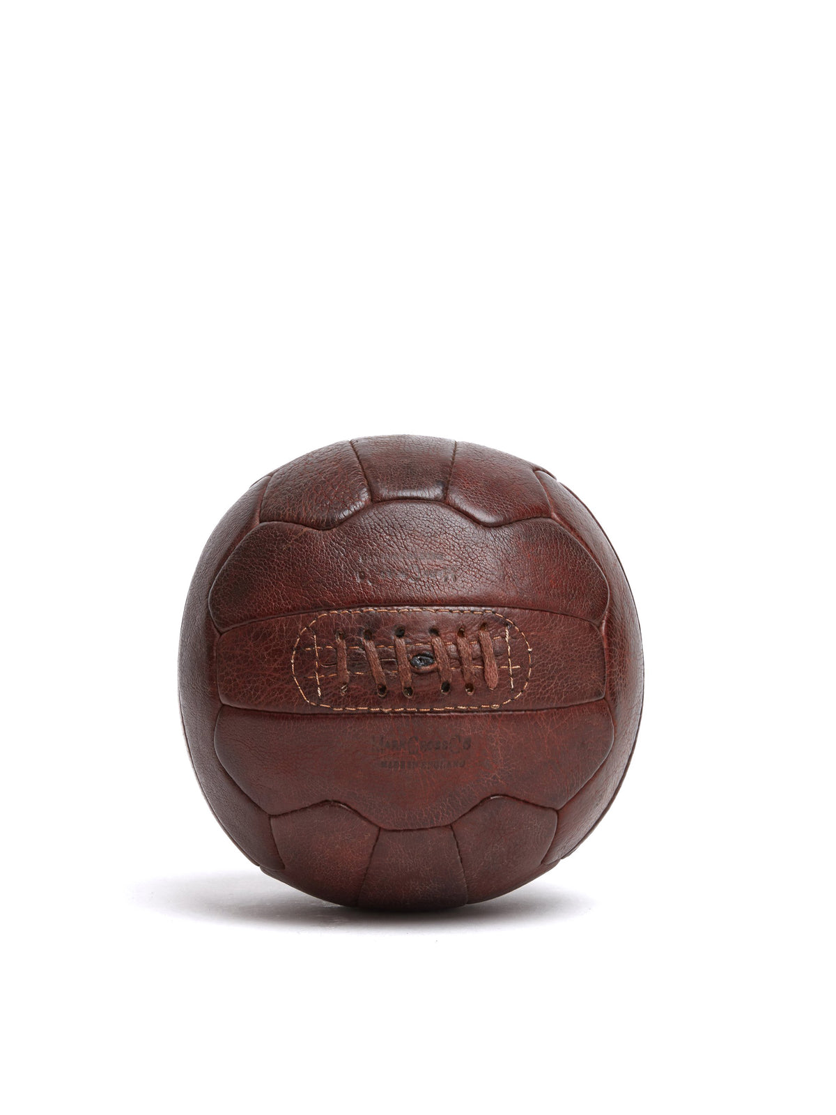 Mark Cross Vintage Leather Soccer Ball Chocolate Front