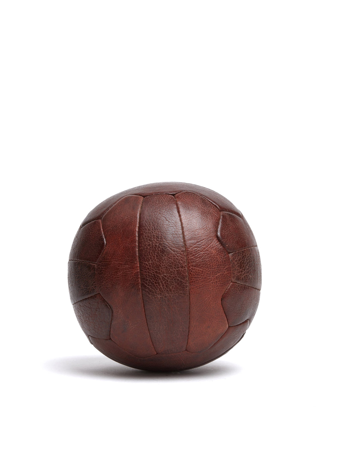 Mark Cross Vintage Leather Soccer Ball Chocolate Side