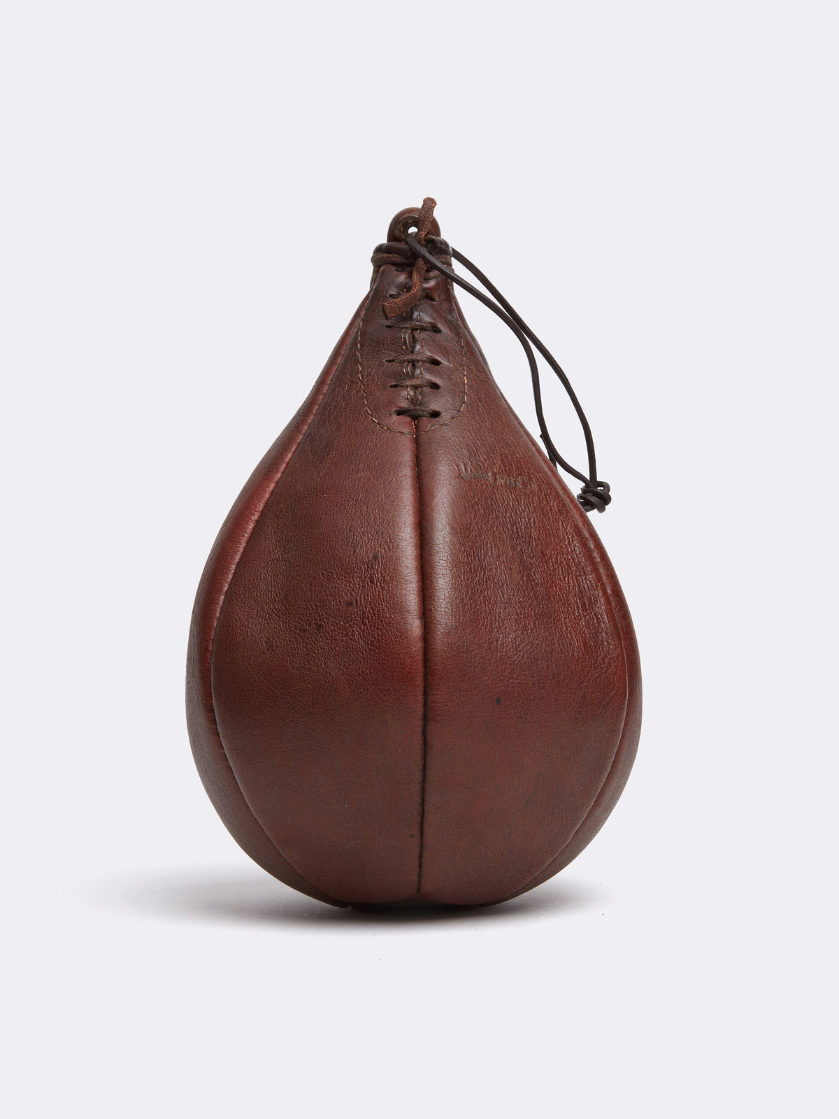 Mark Cross Archive Leather Punching Bag Chocolate Front