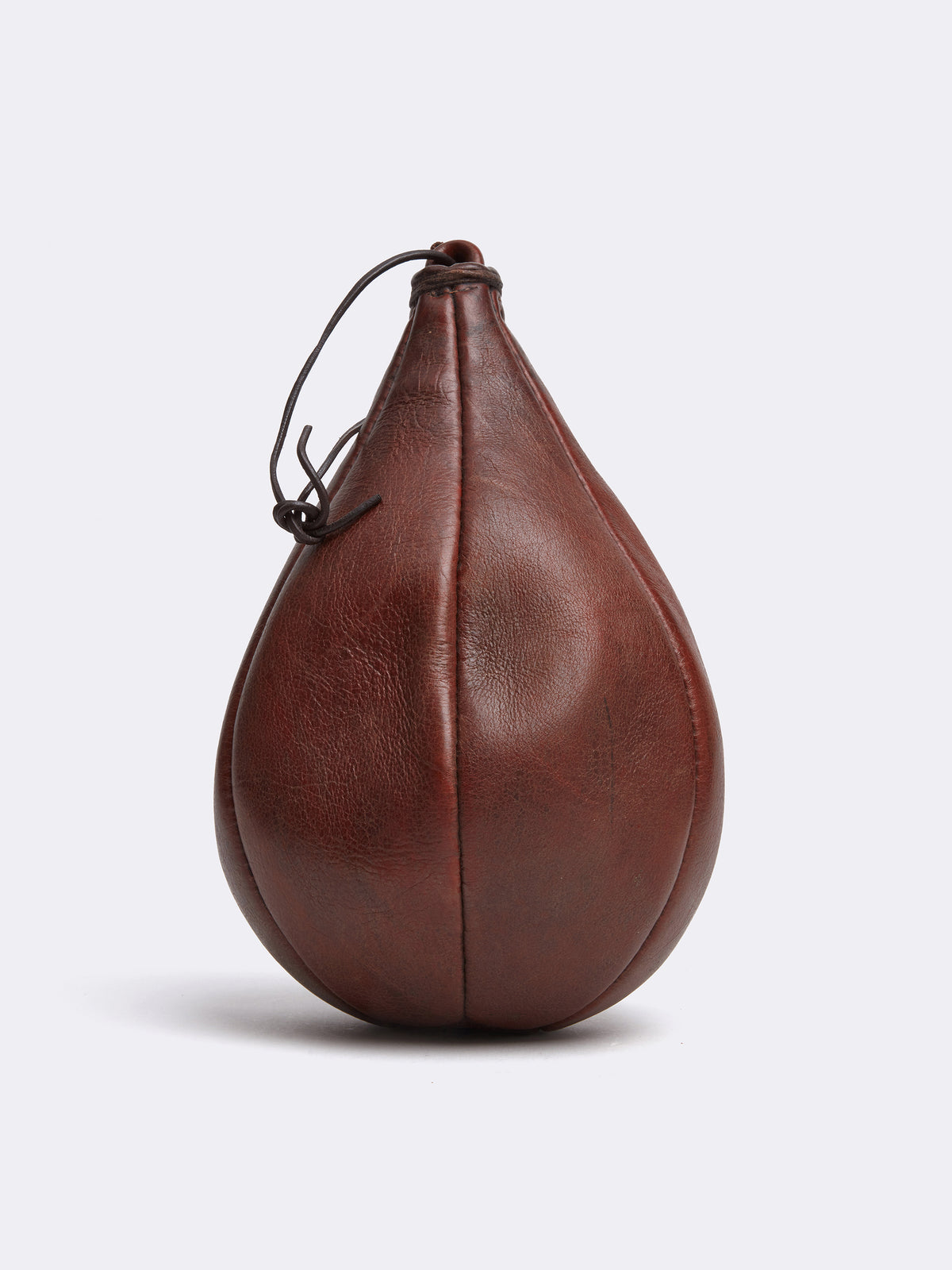 Mark Cross Archive Leather Punching Bag Chocolate Side