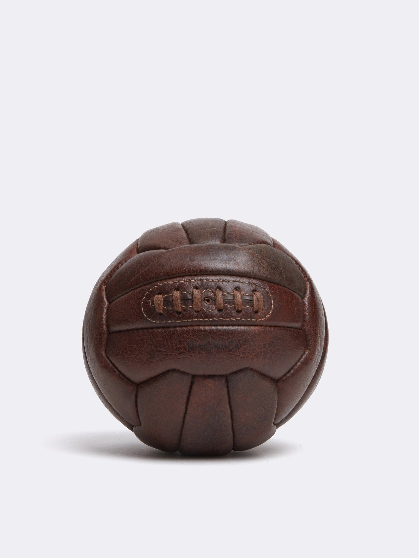 Mark Cross Archive Leather Soccer Ball Chocolate Front