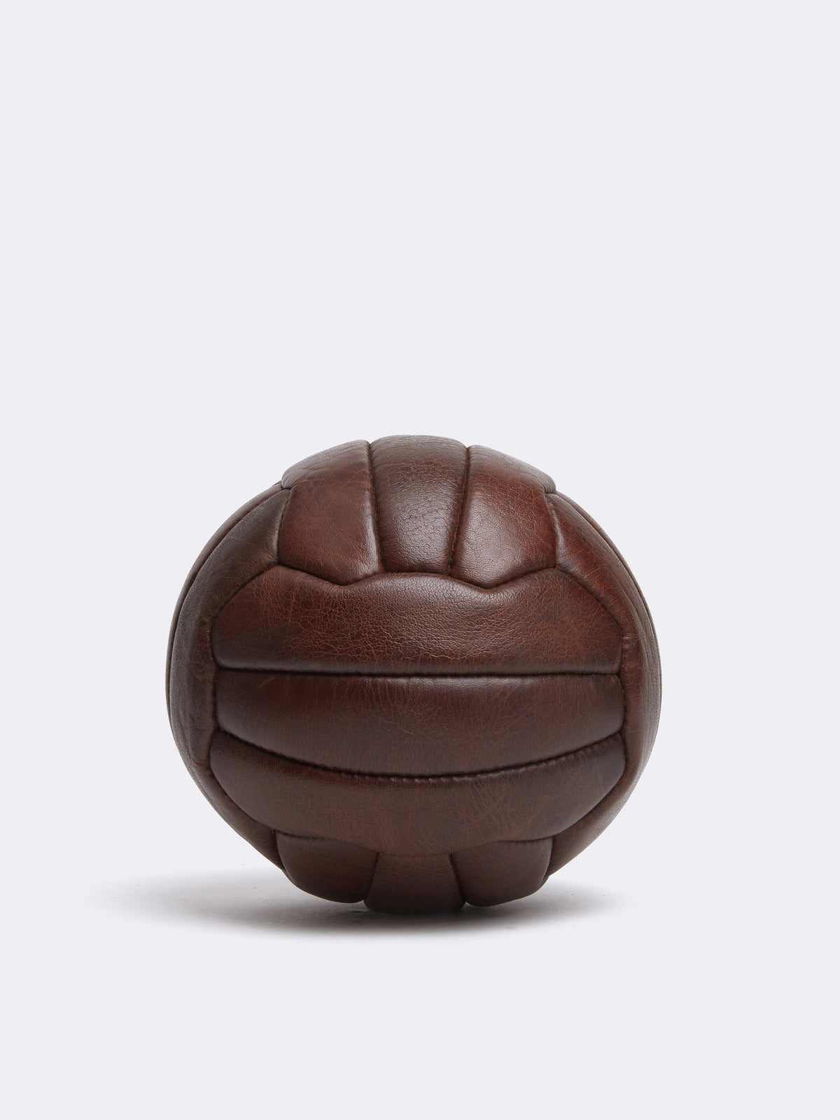 Mark Cross Archive Leather Soccer Ball Chocolate Back