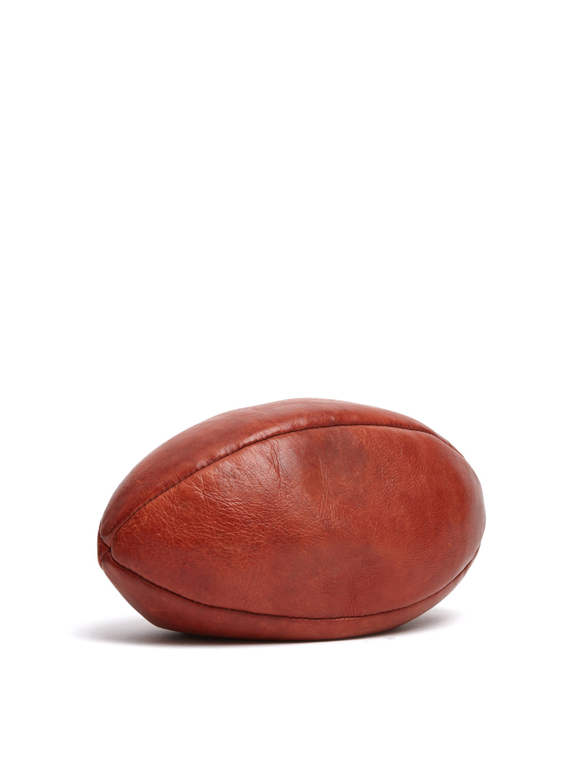 Mark Cross Vintage Leather Rugby Ball Cognac Side