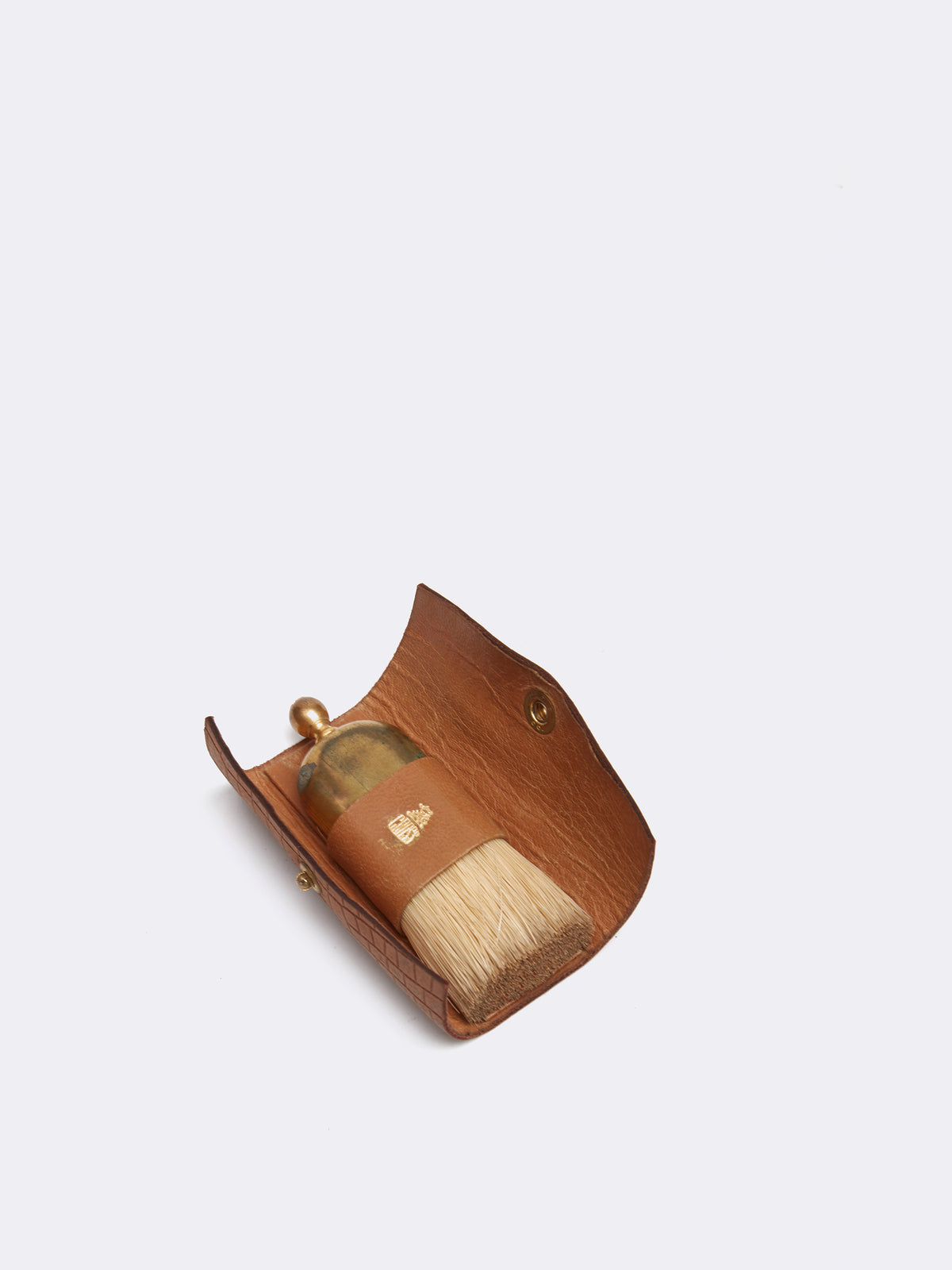 Mark Cross Archive Grooming Brush Cognac Front