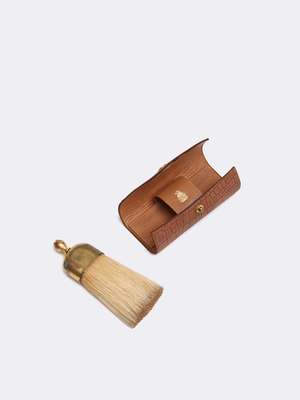 Mark Cross Archive Grooming Brush Cognac Interior
