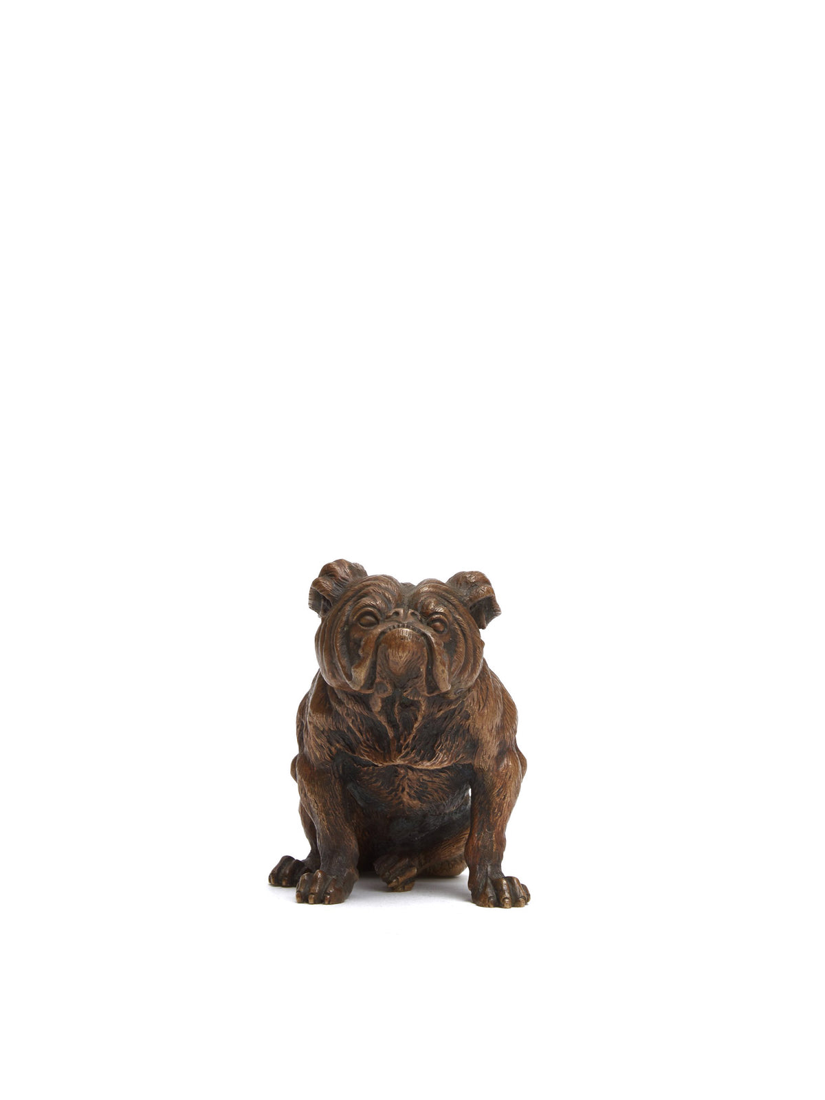 Mark Cross Vintage Bronze Bulldog Paperweight Bronze Front