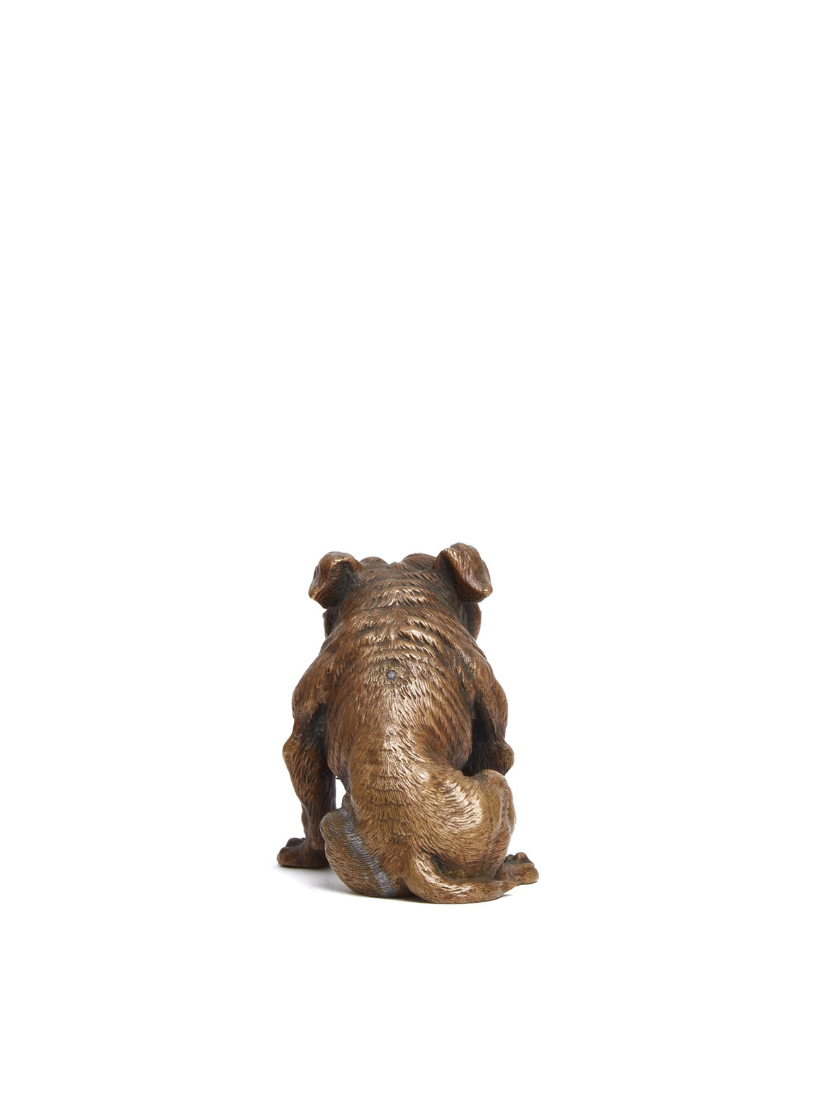 Mark Cross Vintage Bronze Bulldog Paperweight Bronze Back