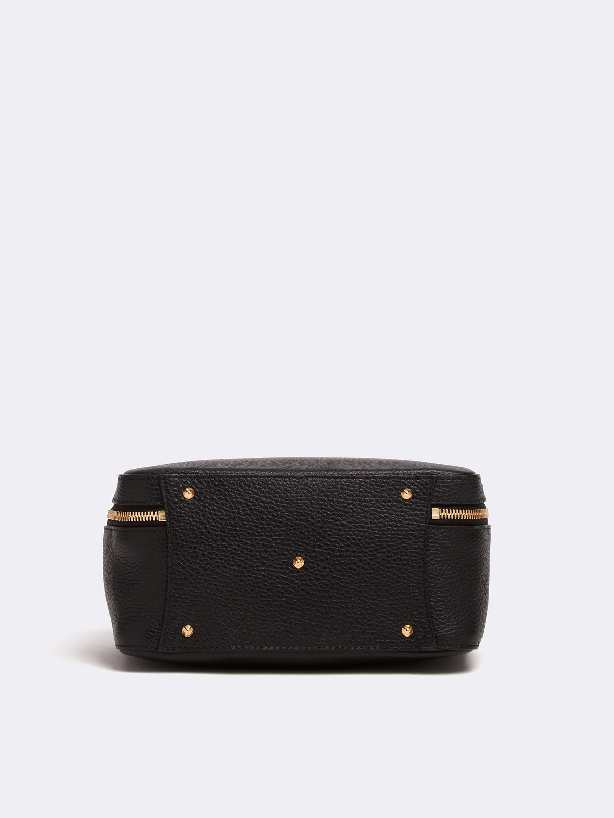Mark Cross Laura Leather Crossbody Bag Pebble Grain Black Side