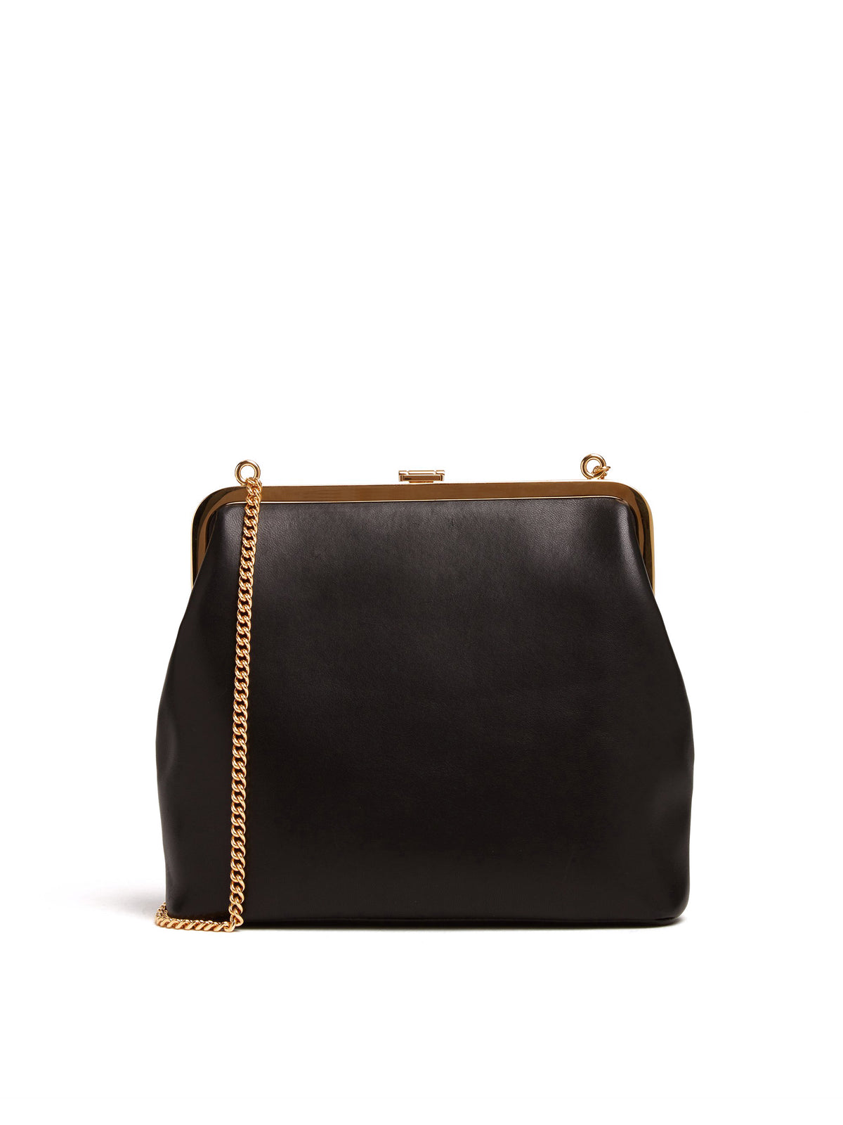 Mark Cross Susanna Leather Frame Pouch Bag Nappa Black Back