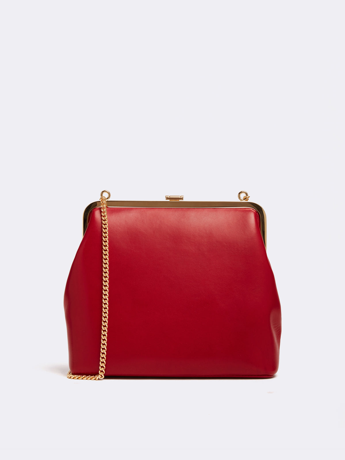 Mark Cross Susanna Leather Frame Pouch Bag Nappa Claret Back