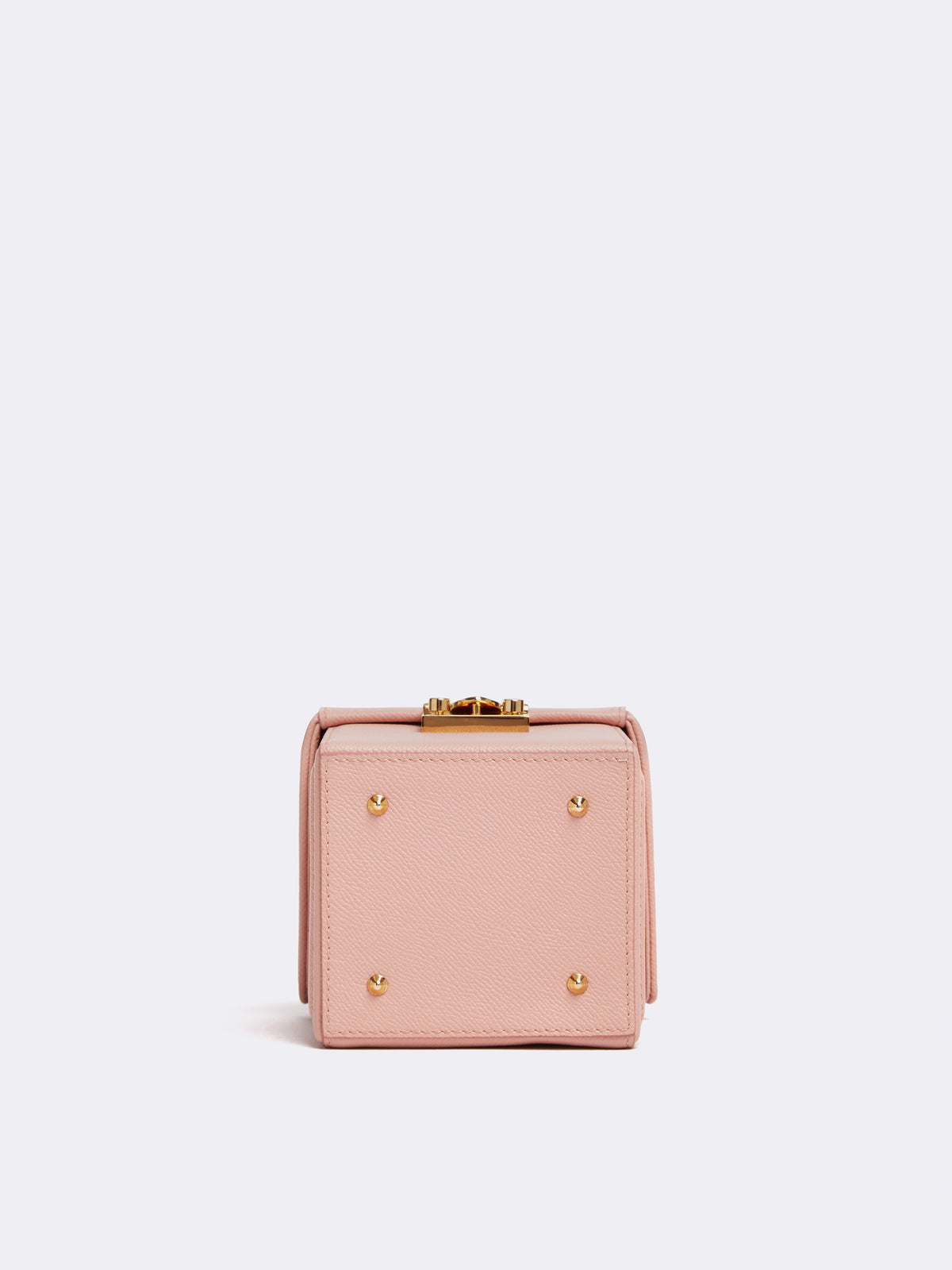 Mark Cross Grace Cube Leather Box Bag Soft Saffiano Blush Side