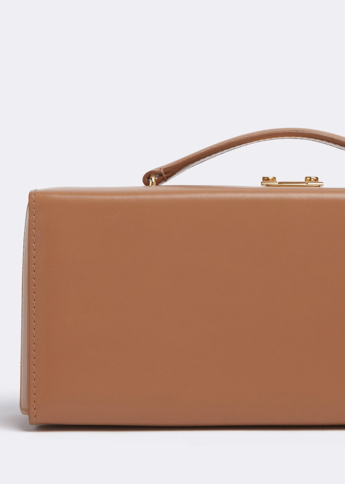 Mark Cross Grace Lungo Box Bag Seta Box Beige Detail